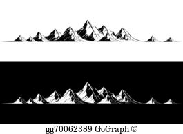 Clipart mountain mountain range. Clip art royalty free