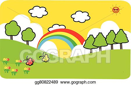 Vector stock illustration . Clipart mountain mountain scenery