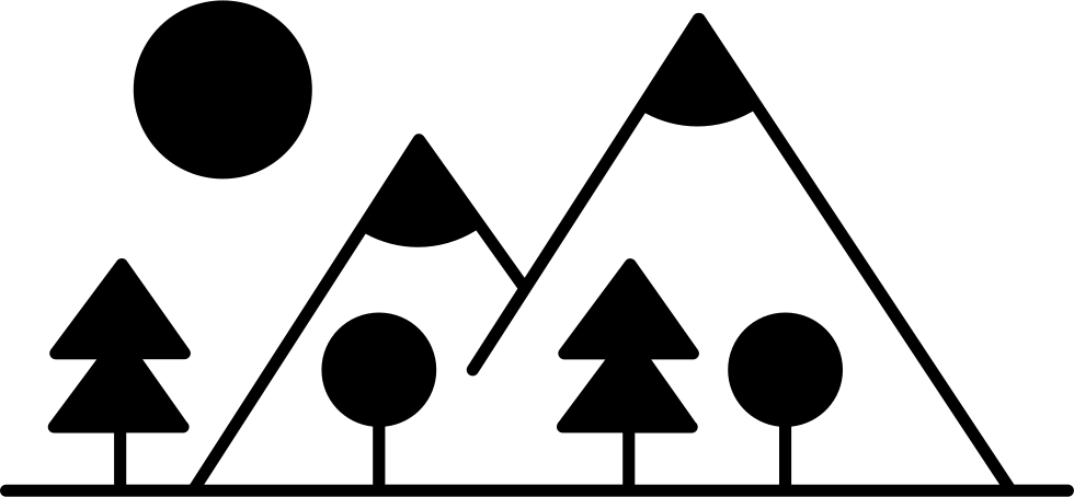 Clipart mountains mountain side. With trees made up
