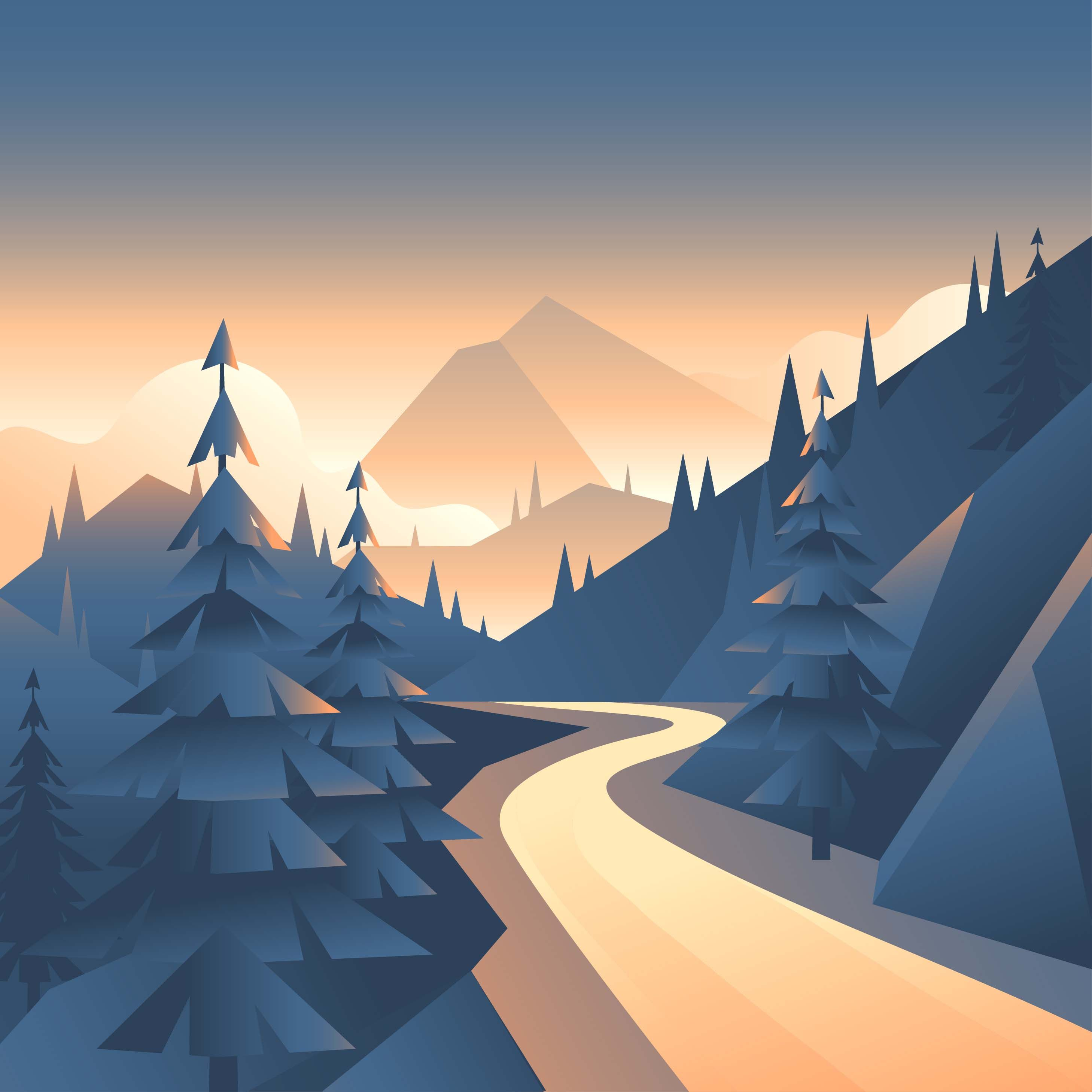 Path landscape first person. Mountain clipart mountain valley