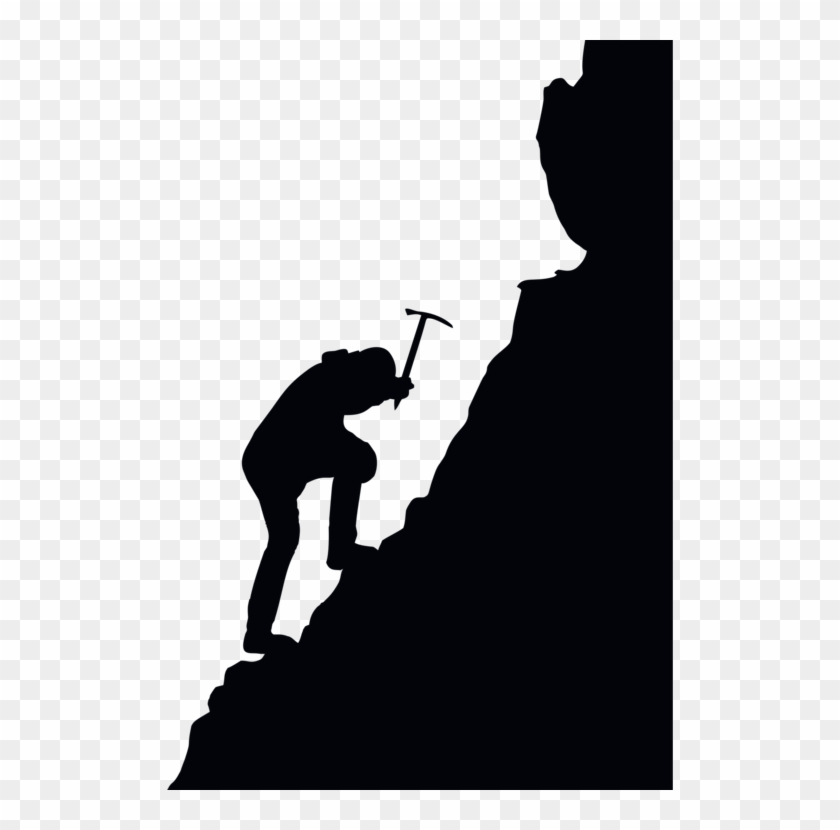 Mountains clipart mountaineering. Free climbing silhouette