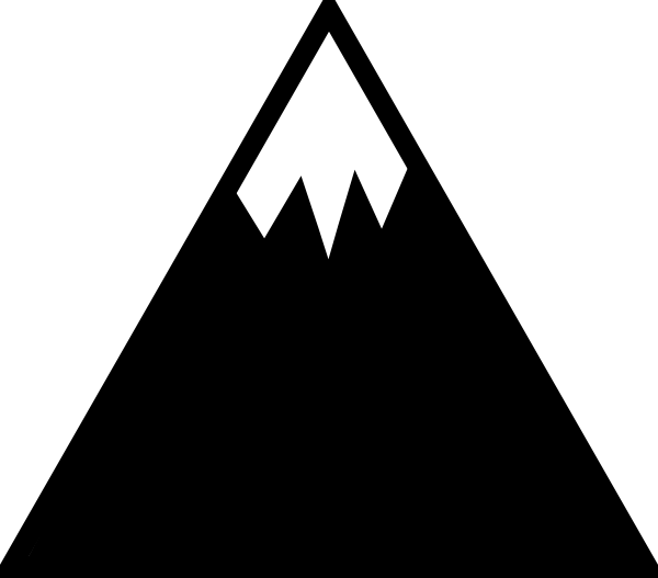 Clipart mountain moutain. With snow clip art