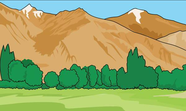 clip arts free. Nature clipart mountain