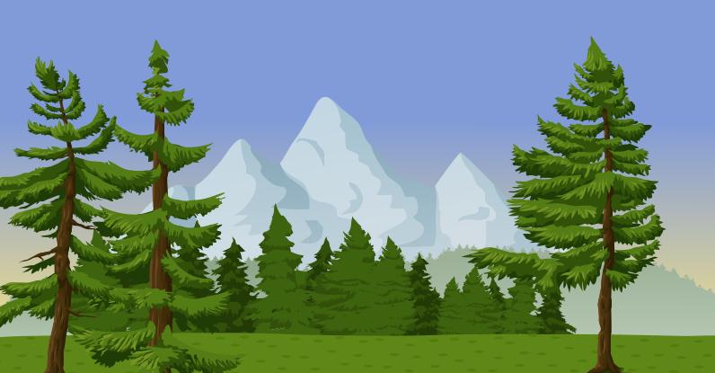 Mountain clipart nature. Pine tree clip art