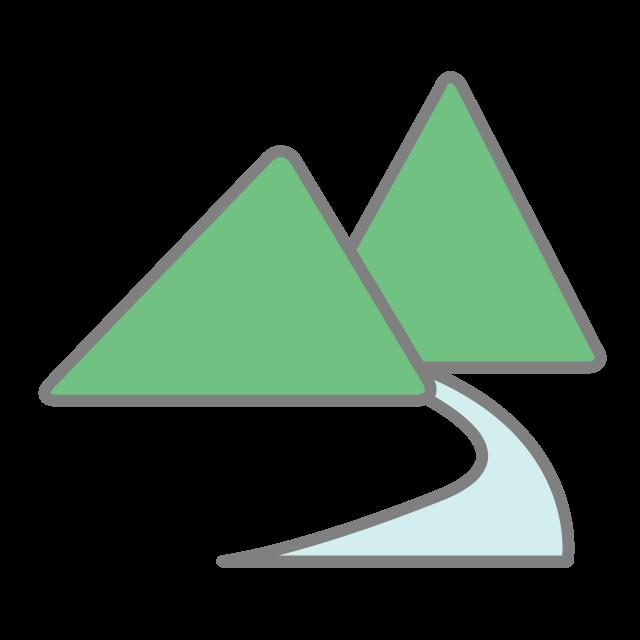 Mountain clipart river. Free icon clip art