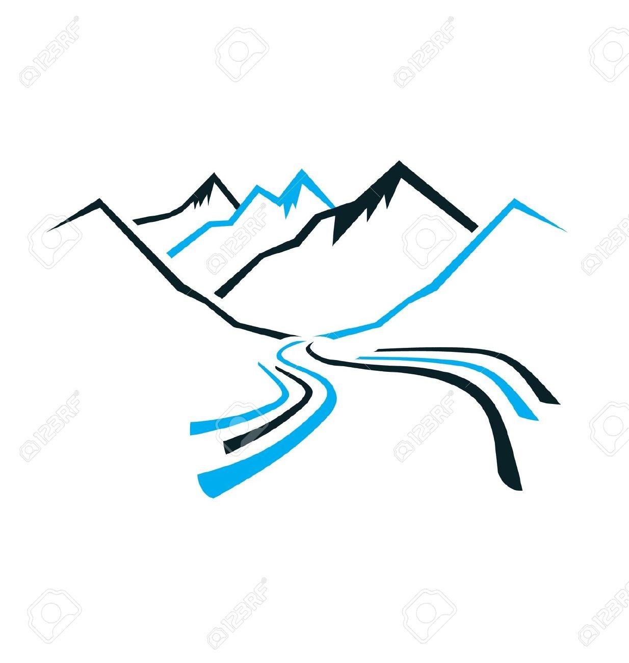 Mountain free eclip art. Clipart mountains river