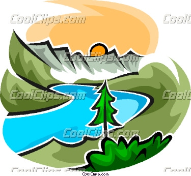 Mountain panda free images. Clipart mountains river