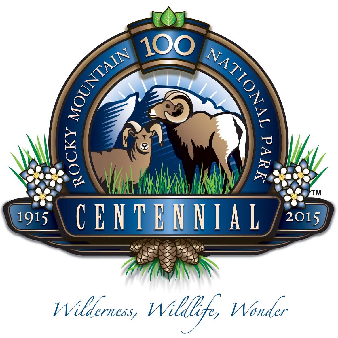 Clipart mountain rocky mountain national park. Unveils centennial logo