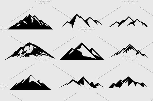 Clipart mountain shape. Shapes for logos vol