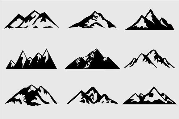 Shapes for logos vol. Clipart mountain shape