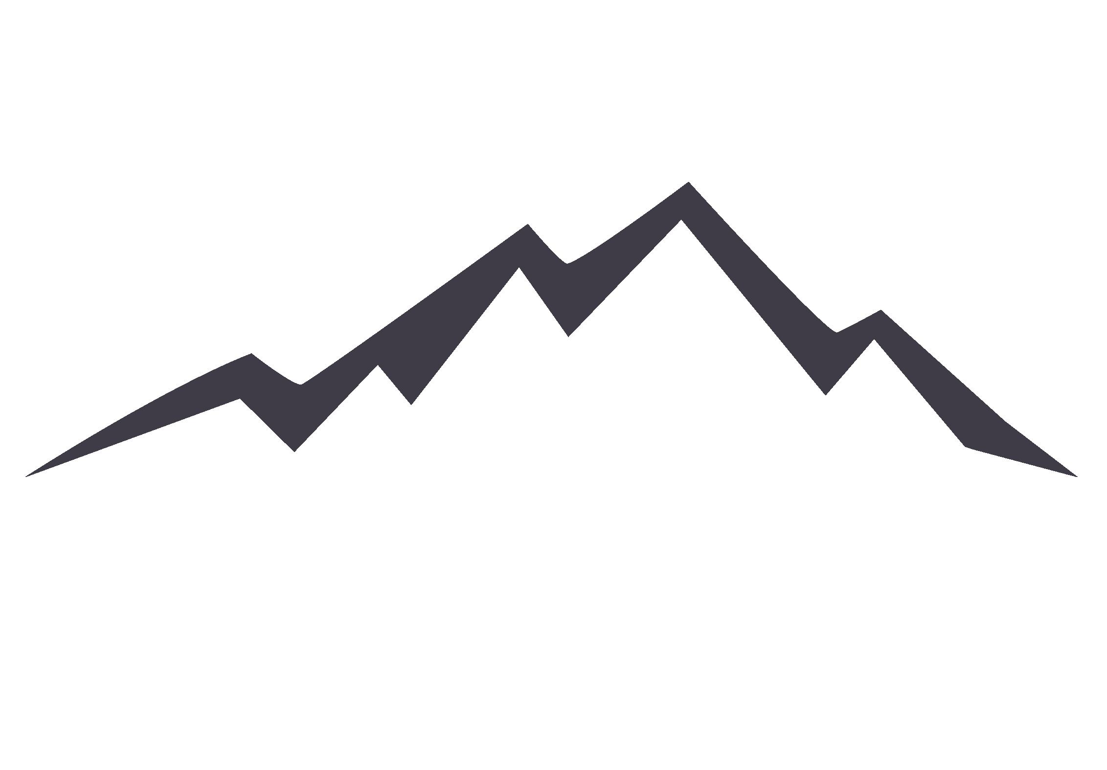 Clipart mountain silhouette. Euclidean vector icon