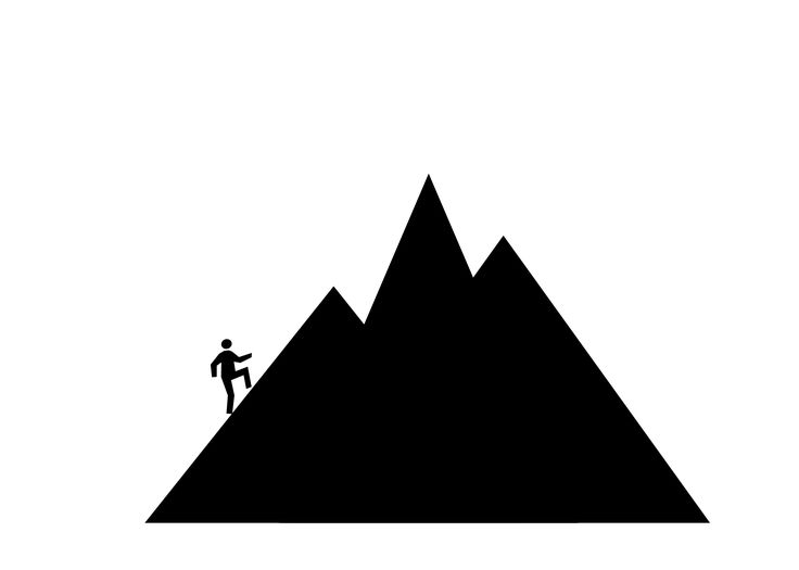 Clipart mountains simple. Ideas about mountain on