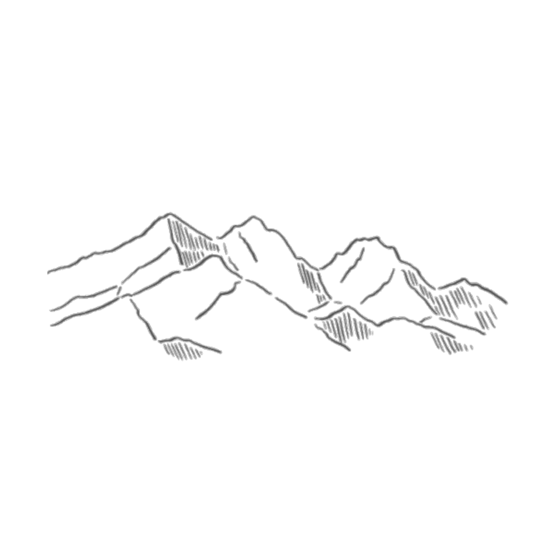 Mountain clipart line drawing. Aesthetics art sketch range