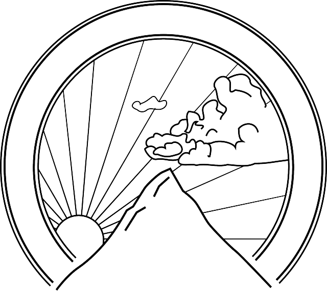 Raindrop clipart sketch. Black and white mountain
