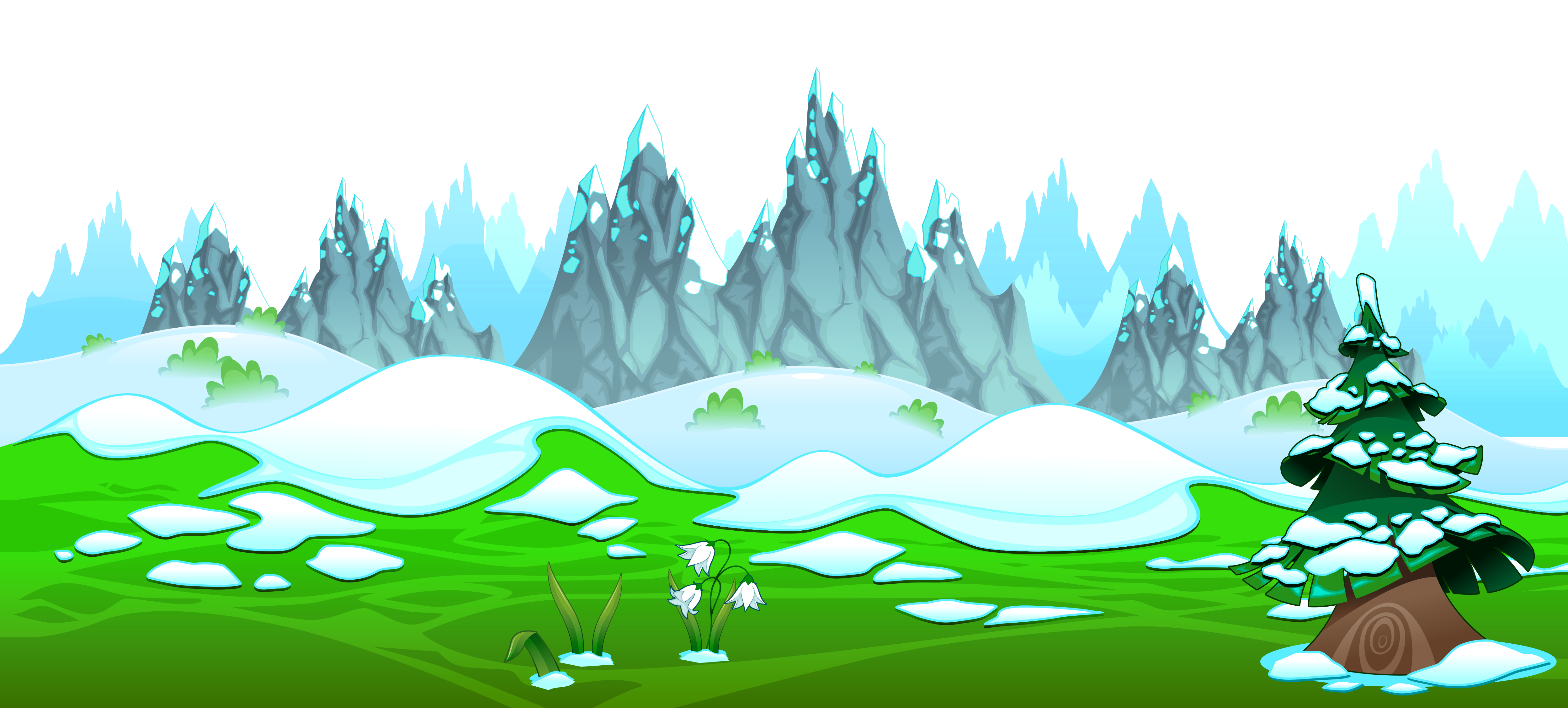 Clip art early with. Clipart mountain spring