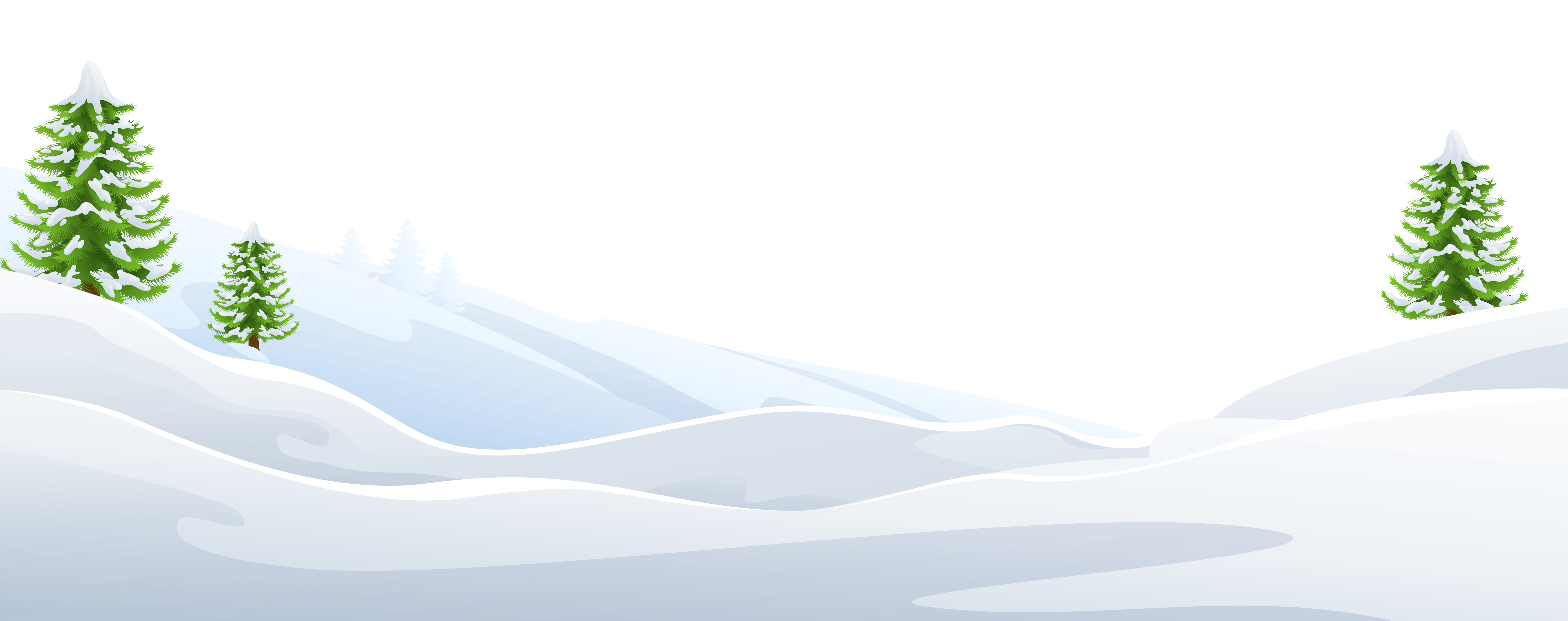Ground with trees png. Floor clipart snowy