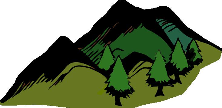 Clipart mountains transparent background. Clip art openclipart computer