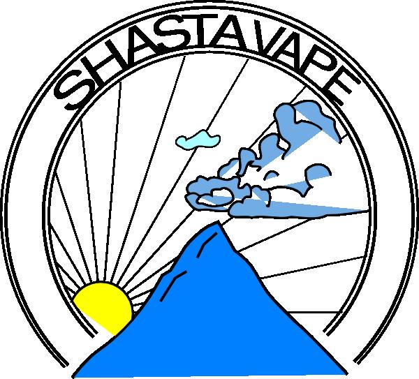 Shasta vape logo clip. Clipart mountain vector