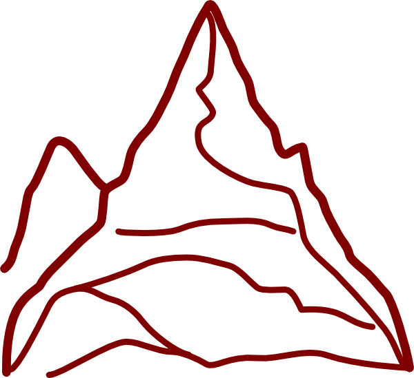 Clipart mountain vector. Red clip art at