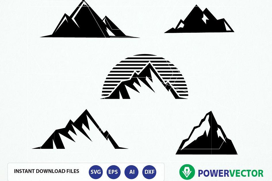 Clipart mountains vector. Mountain svg file digital