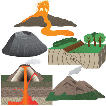 Earthquake clipart volcano. Mountains volcanoes and earthquakes