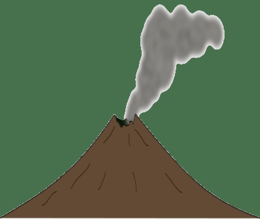 Clipart mountain volcano. Mount etna papandayan clip