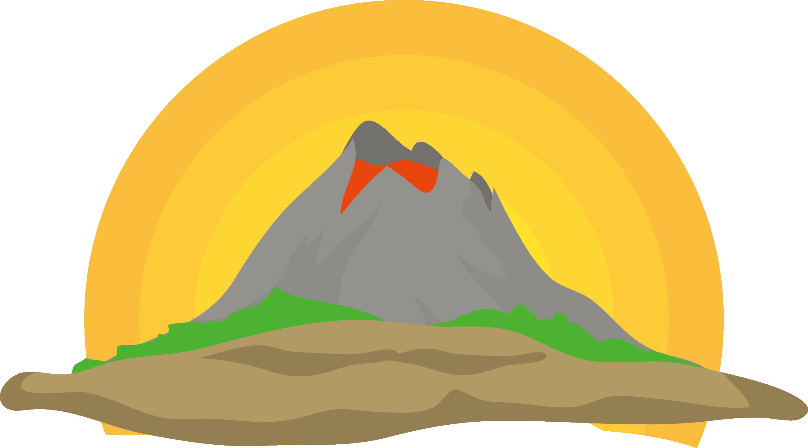 Mountain clipart volcano. Euclidean vector clip art