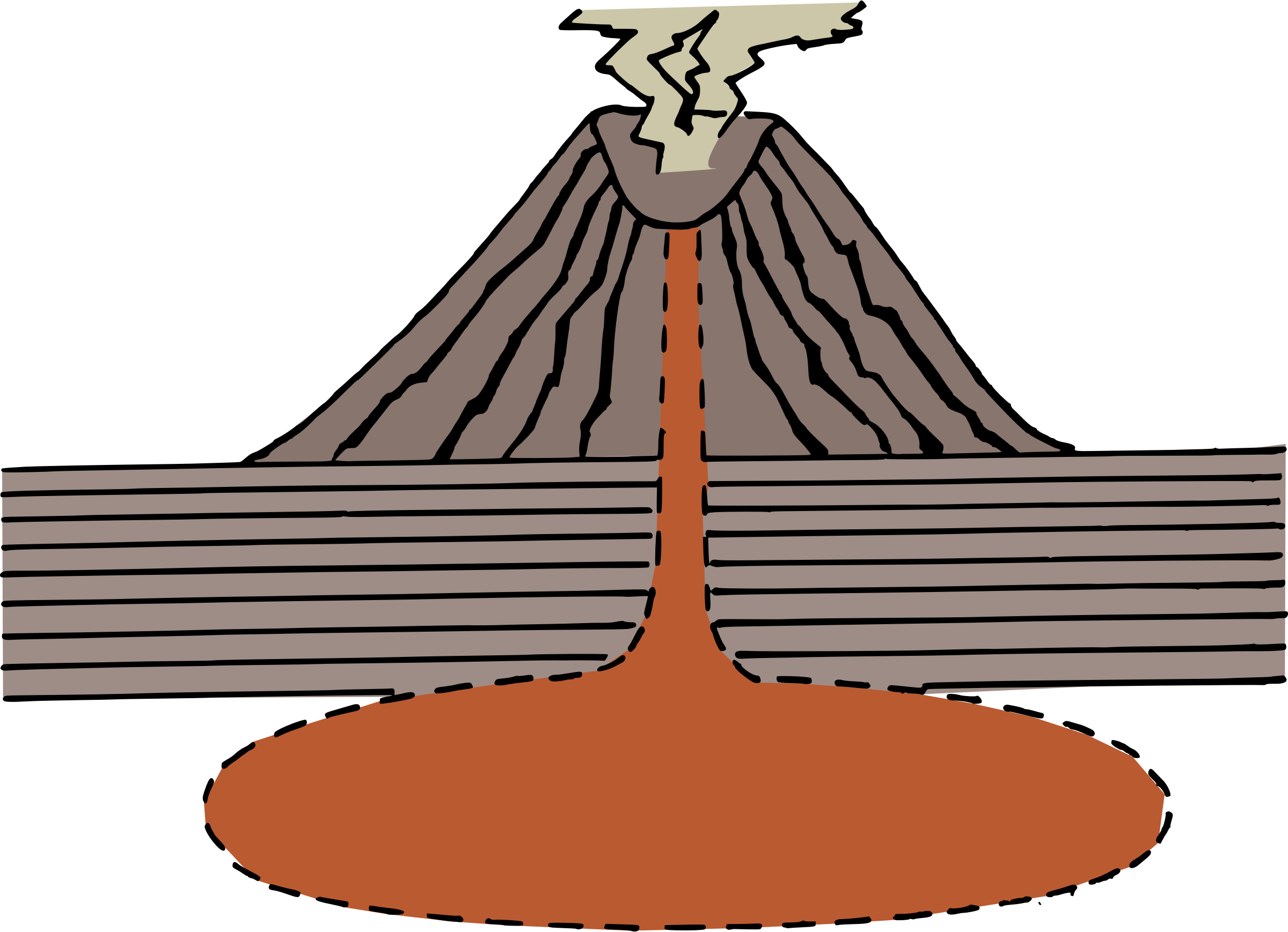 Diagram big image png. Clipart mountain volcano