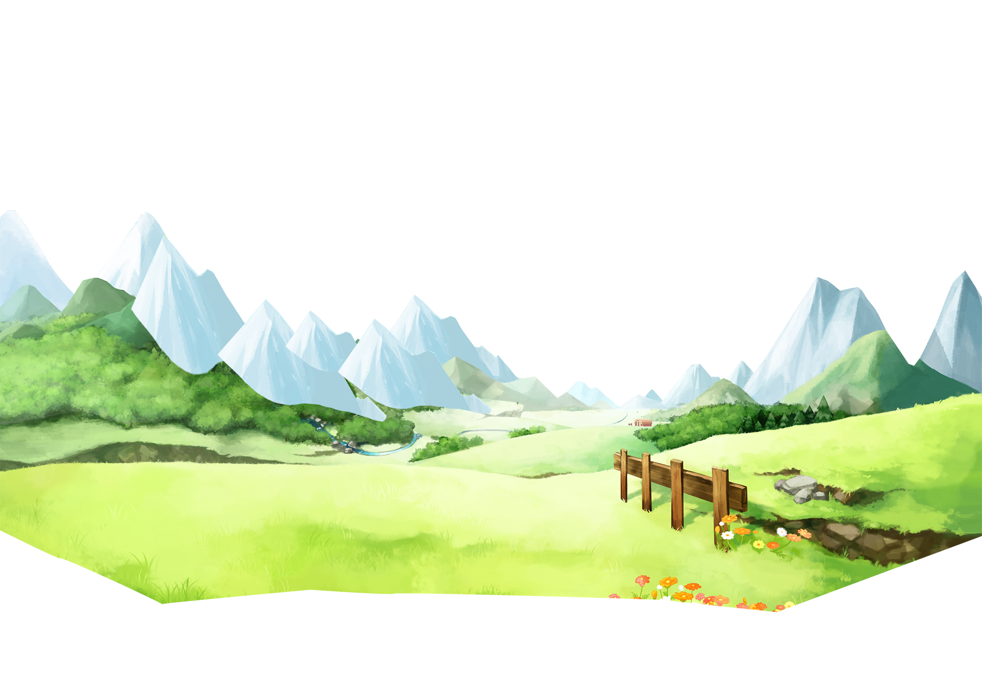 Mountains clipart watercolor. Harvest moon the lost