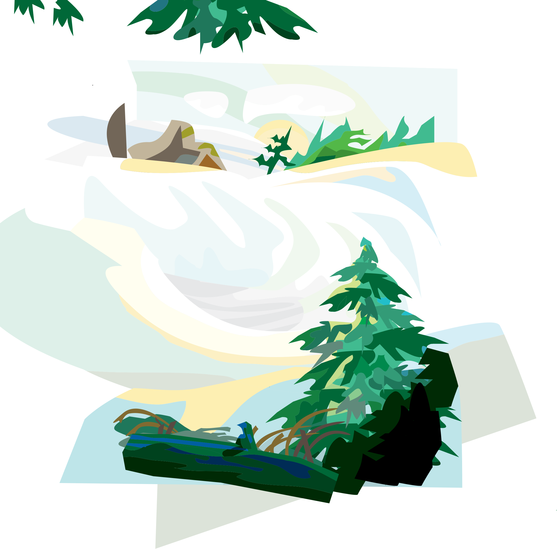 huge freebie download. Clipart mountains waterfall