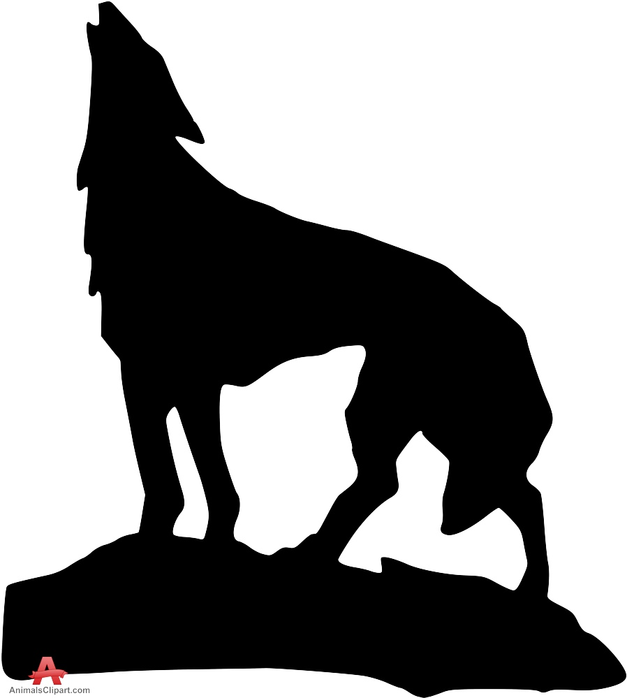 Wolves clipart mountain. Wolf howling on free
