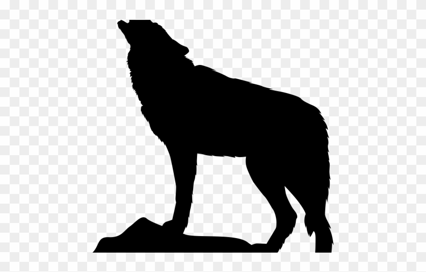 Transparent silhouette png . Wolf clipart mountain