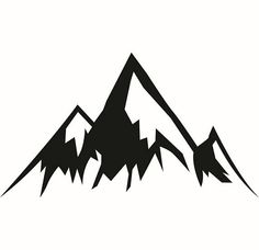 Silhouette clip art panda. Mountains clipart