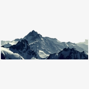 Mountain range transparent . Clipart mountains banner