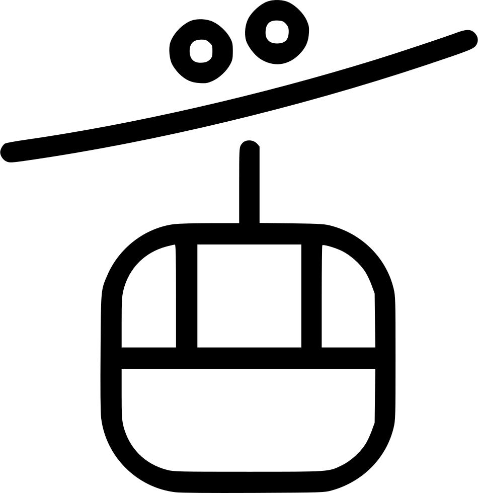 Gondola lift svg png. Clipart mountains book