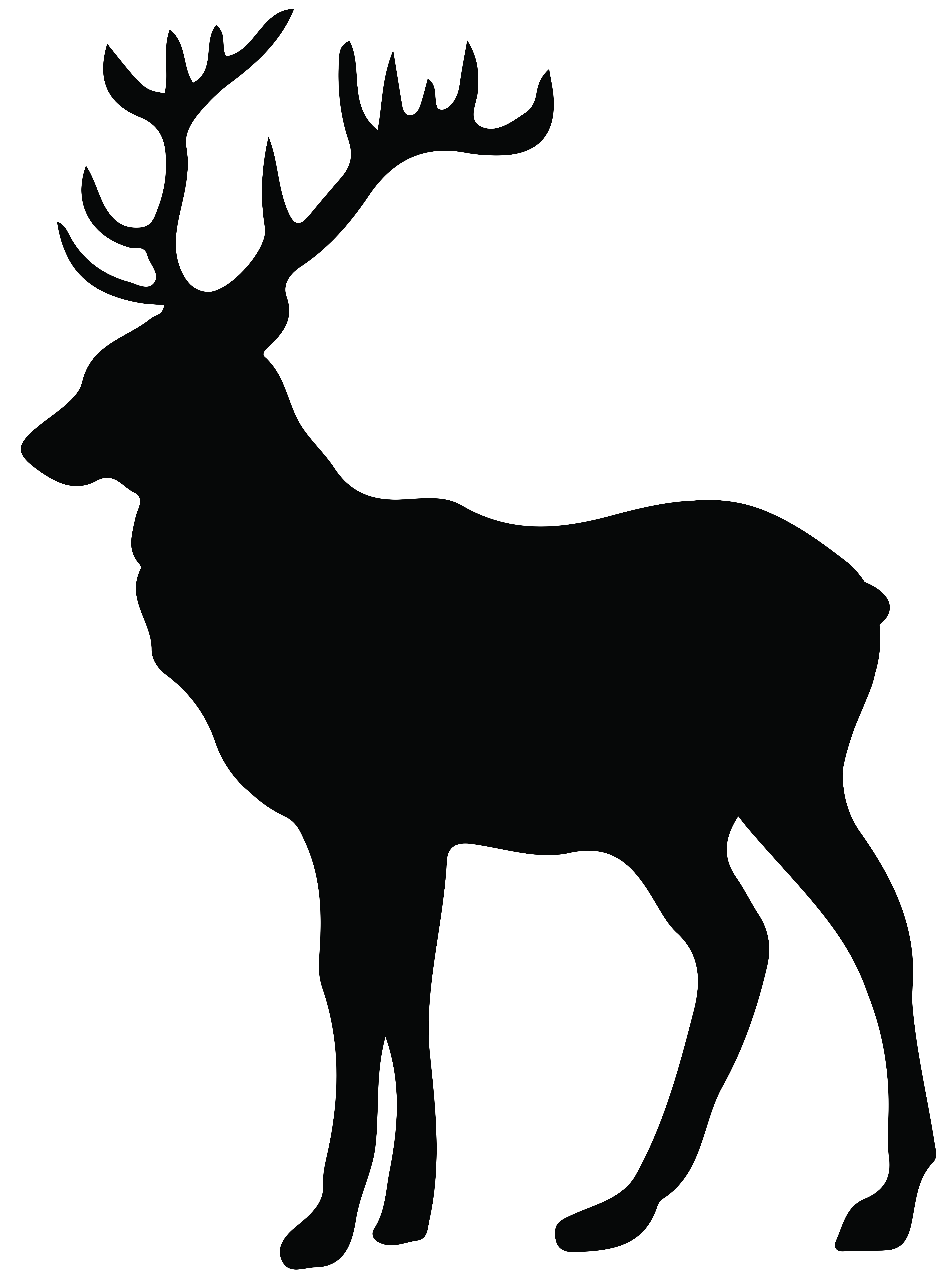 Hunting clipart stag head. Silhouette png transparent clip