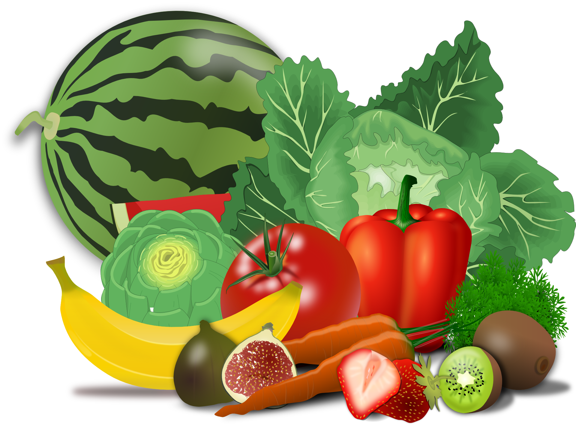 Healthy foods drawing at. Vegetables clipart fair