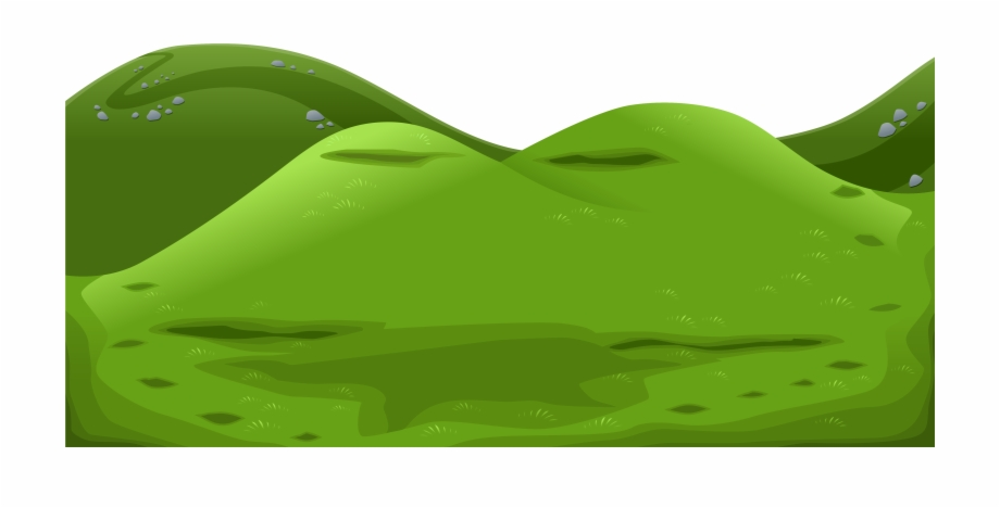 Green mountain png . Mountains clipart ground