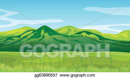 Clipart mountains high mountain. Vector illustration