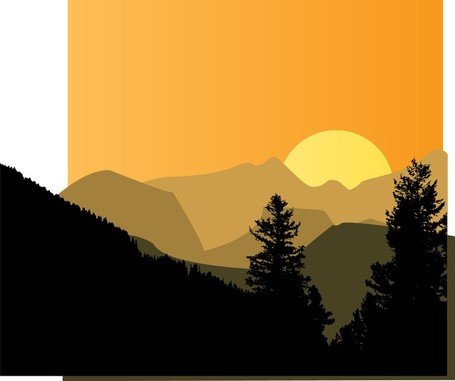 Free mountain sunsets and. Sunset clipart sunset landscape