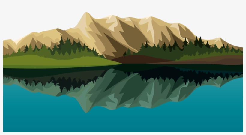clipart mountains lake