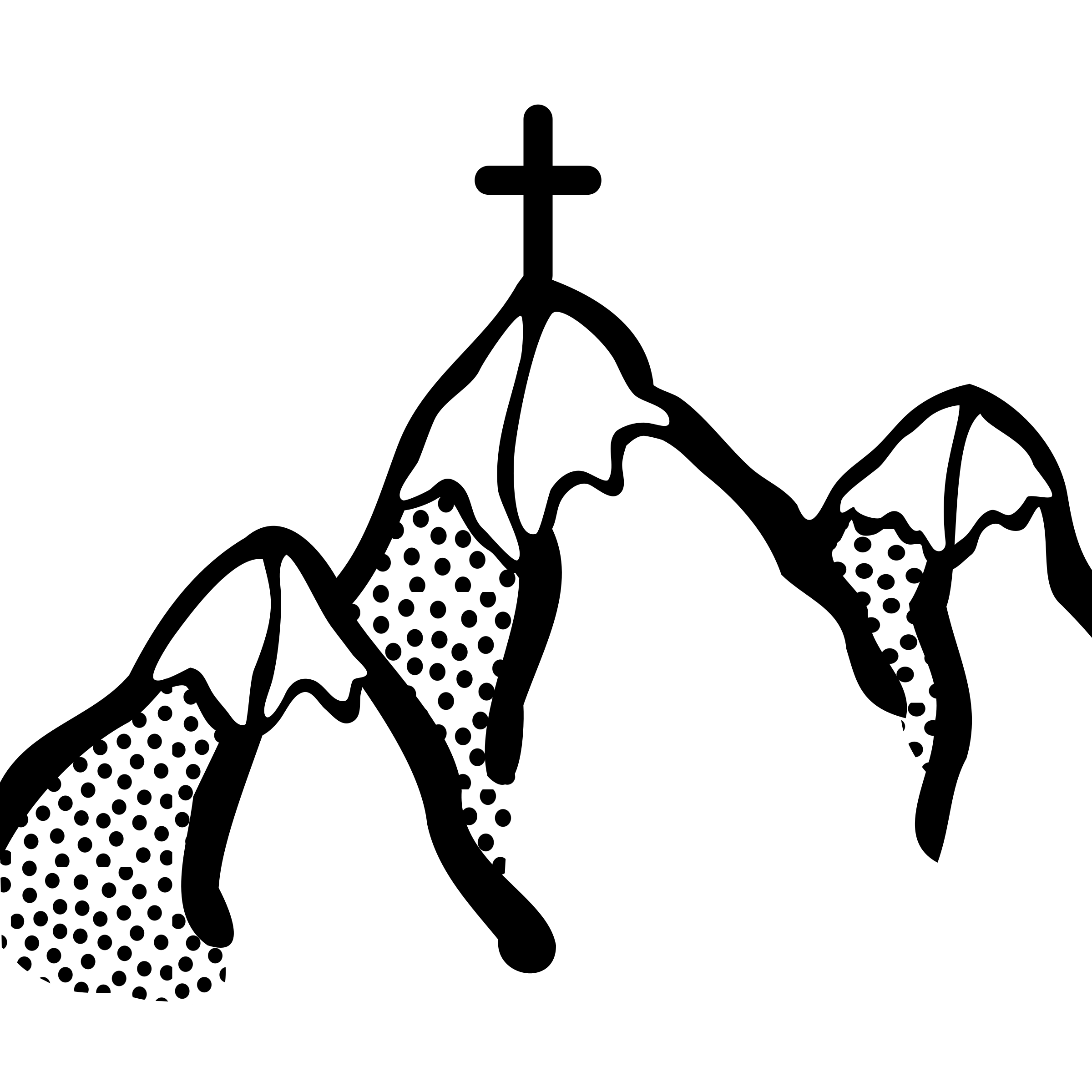 Mountains lineart big image. Mountain clipart drawing