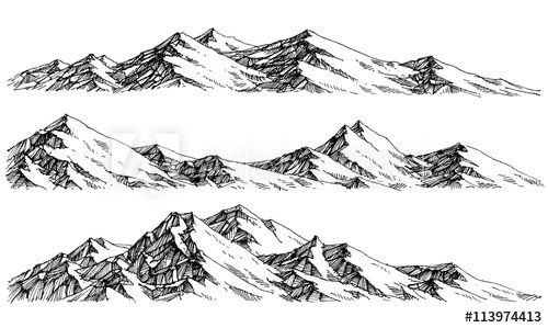 Ranges vector panorama drawing. Clipart mountains mountain chain