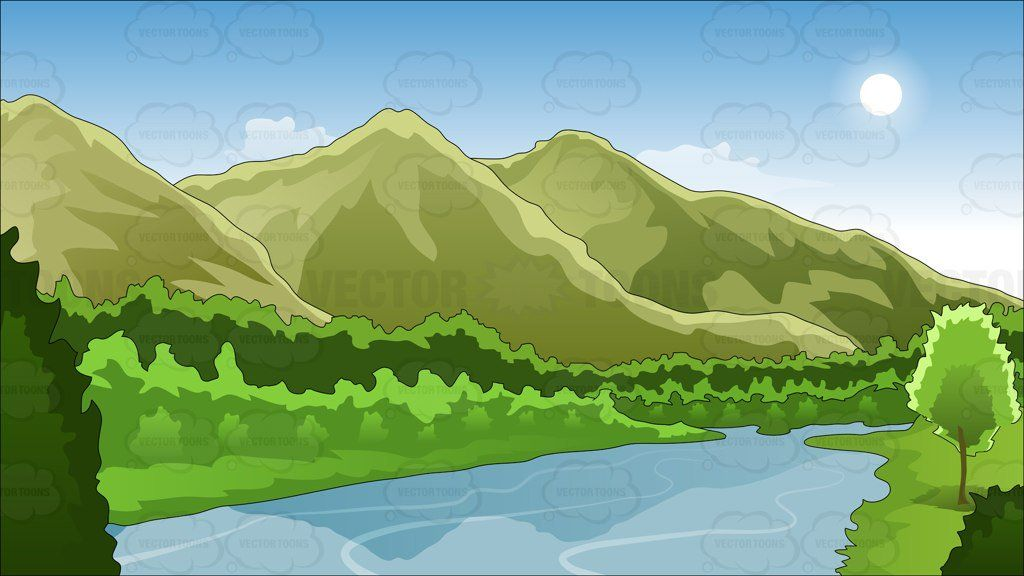 And river background landscapes. Mountains clipart mountain landscape