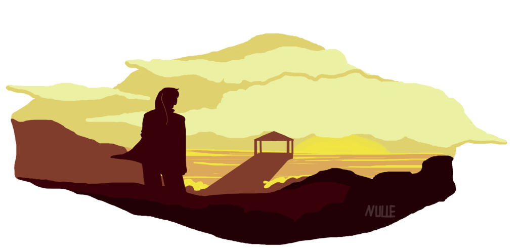 The east docks by. Pathway clipart rocky