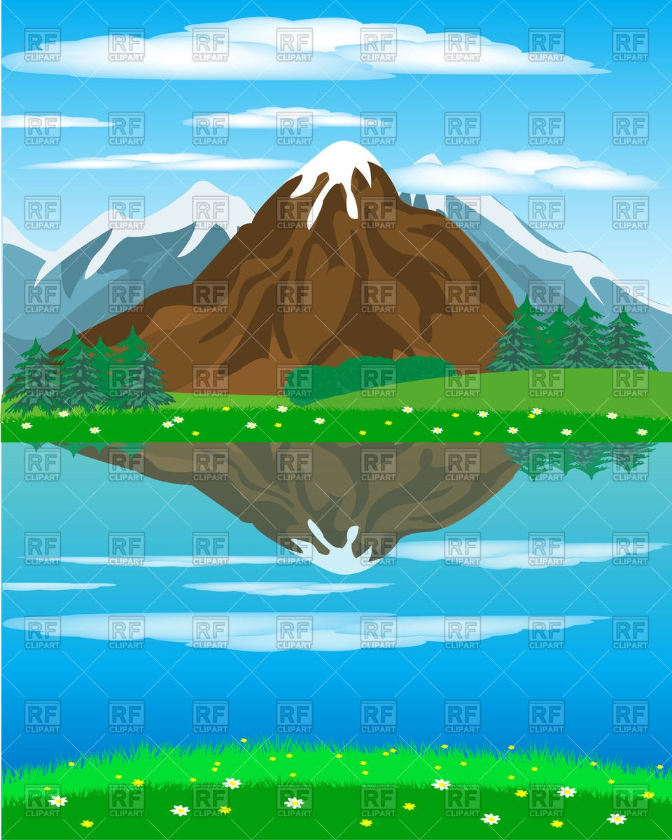 Clipart mountains river. And portal