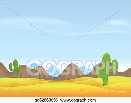 Desert clipart desert sand. Vector landscape background