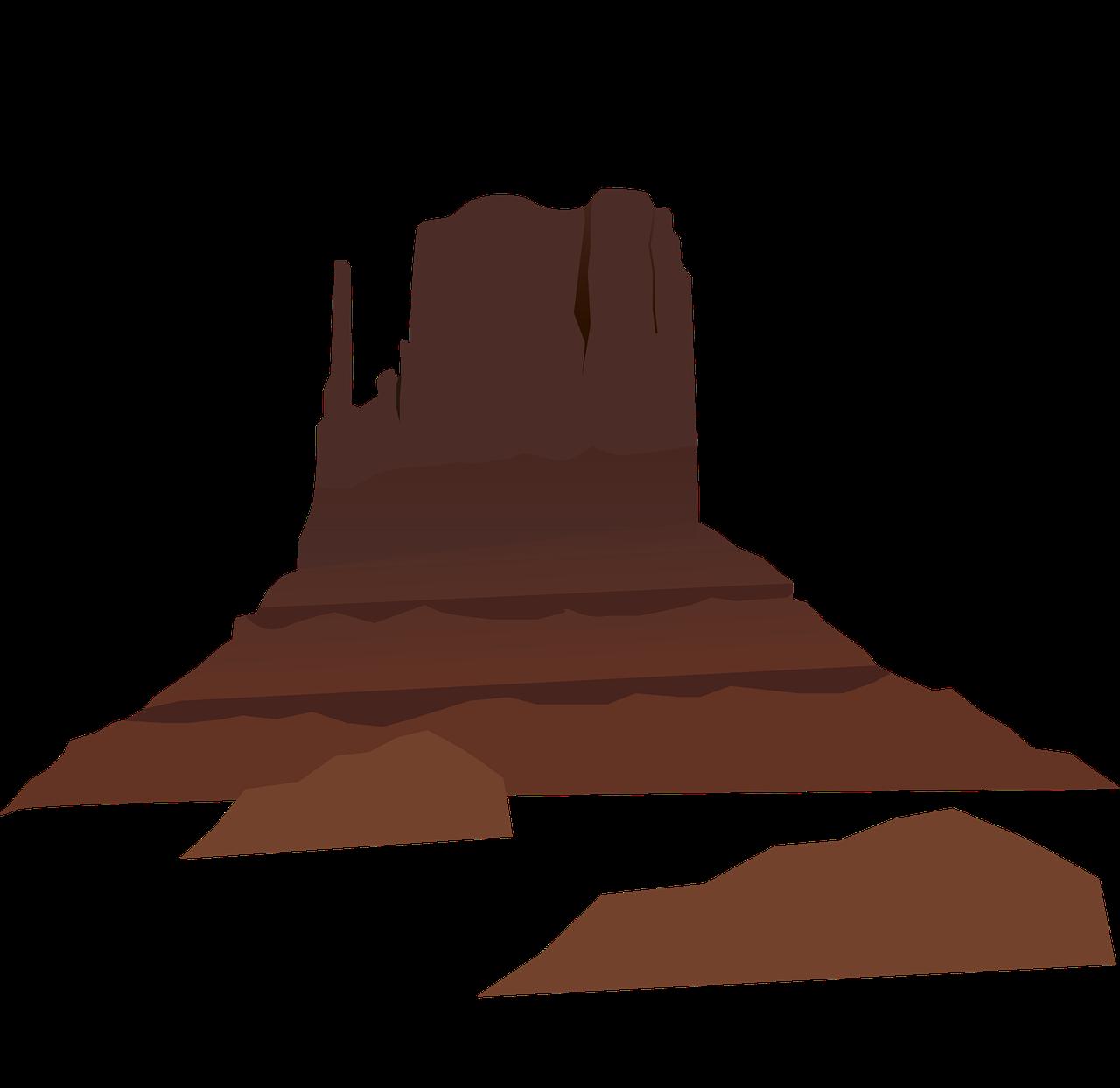 Desert clip art mountains. Landscape clipart western sunset