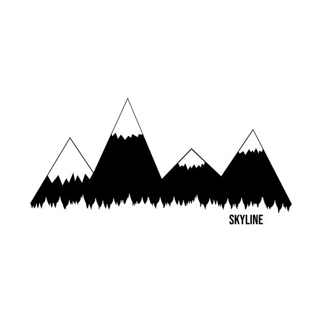 Mountain range . Clipart mountains simple