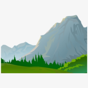 Ground mountain view cartoon. Clipart mountains terrain